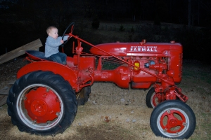 Mack has a small tractor just like this one