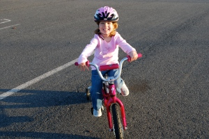 Molly on her new bike