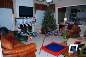 The living room before they all came downstairs