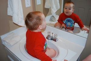 Mack in the sink