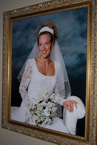 The wedding portrait hanging in our house