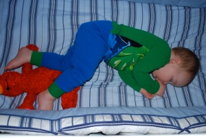"""Our little HULK with his """"melmo"""""""
