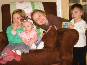 Molly, Rennison, Ruby and Kaybeth...the girl cousins