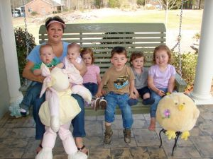 Sweetie and the grandkids in 2008...now we have Rennison, too!