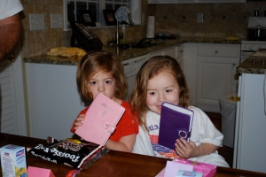 """Ruby and Molly got """"Princess Bibles"""""""