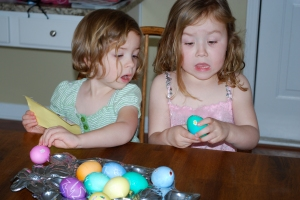 Uh-oh...the first cracked egg (but not the last)