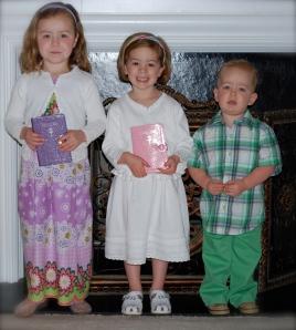 Ruby (4), Molly (3), Mack (2)